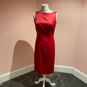 Gorgeous slinky vintage red dress!